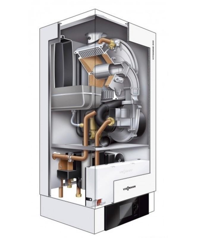 centrala termica viessmann vitodens 200 w 35 kw berluni. Black Bedroom Furniture Sets. Home Design Ideas