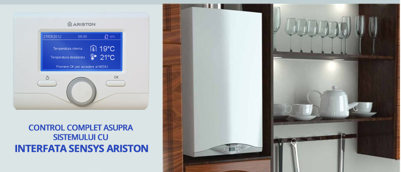 Interfata sistem Ariston Sensys